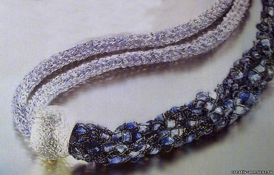 плетение шнурка,колье