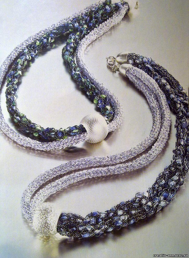 колье, вязание шнуров