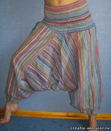 брюки с мотнёй
